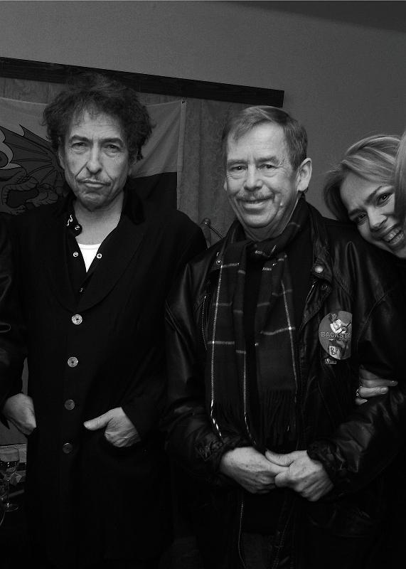 Z Bobem Dylanem w Pradze, 28 paędziernika 2003, fot. Alan Pajer
