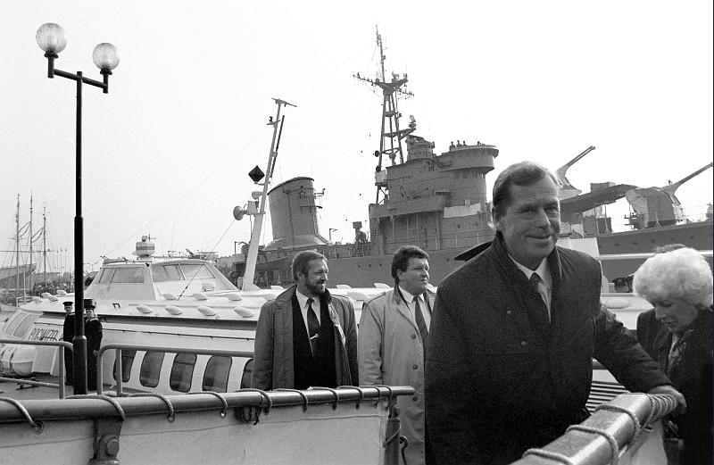 Z oficjaln• wizyt• w Gdašsku, 7 wrzeėnia 1992, fot. Pżemysl Fialka
